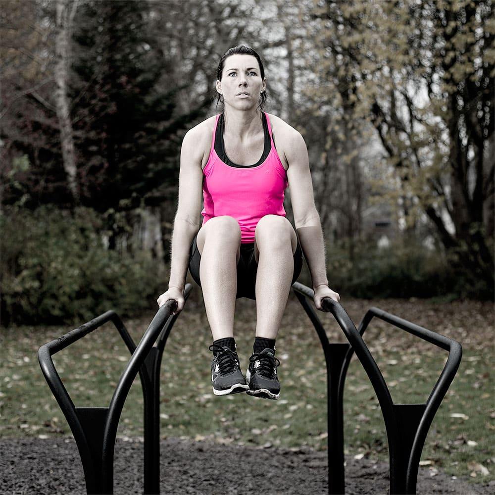 Flotte udendørs motionsredskaber knee raise parallel bar