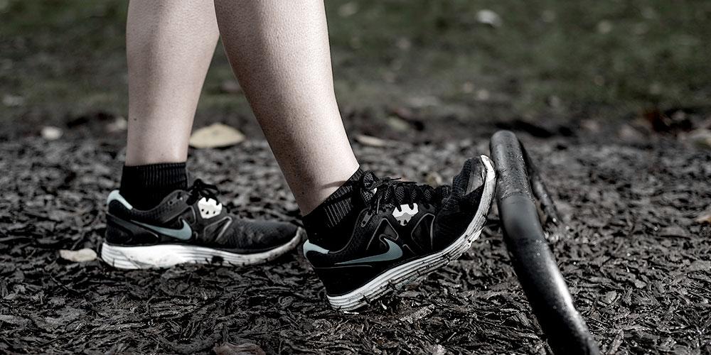 Smukke udendørs fitnessredskaber calf extend spirer 110