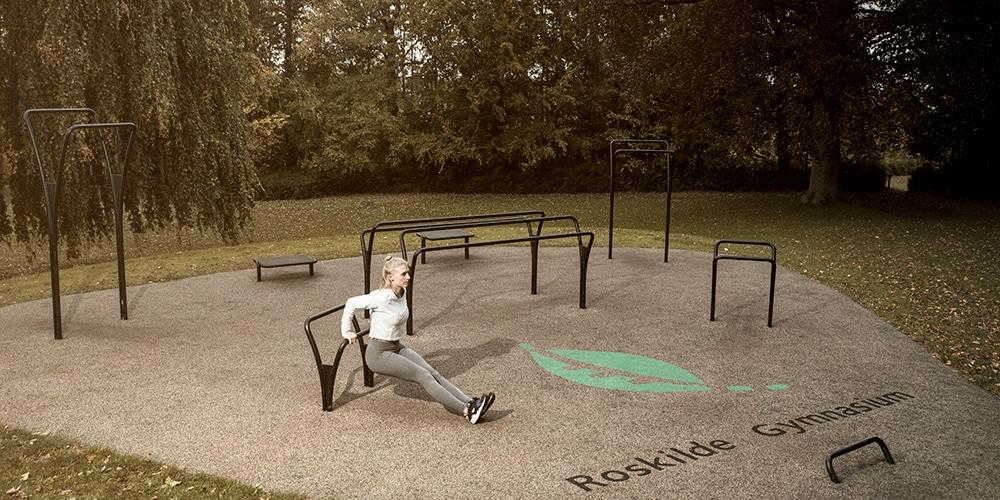 Træningspark til udendørs fitness ved Roskilde Gymnasium Køb her